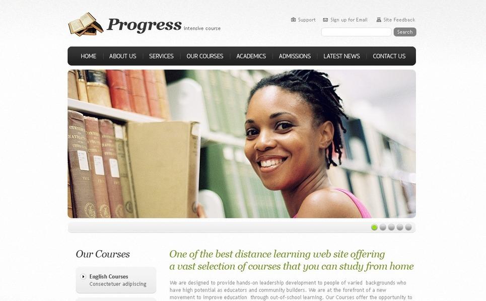 Template Photoshop  para Sites de Educação №56250 New Screenshots BIG