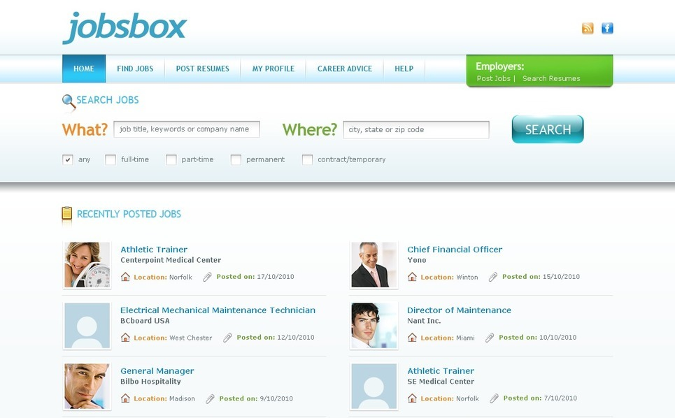 PSD Template over Jobportal New Screenshots BIG