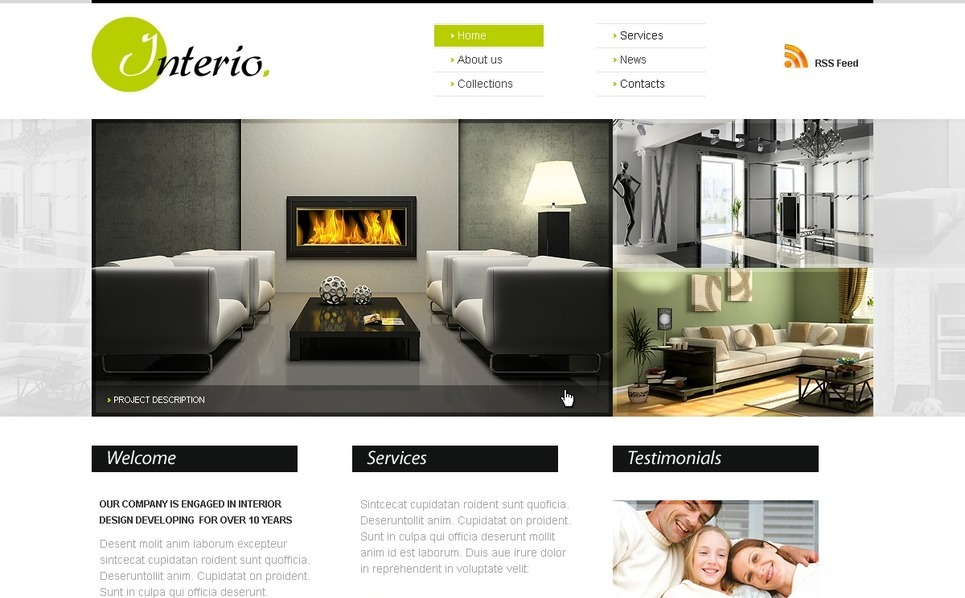 Template Photoshop  para Sites de Design Interior №56256 New Screenshots BIG