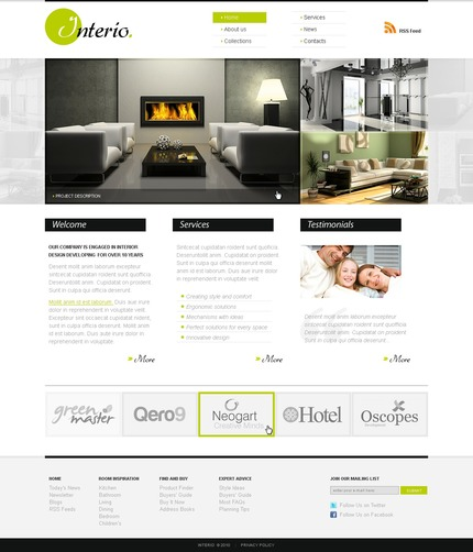 ADOBE Photoshop Template 56256 Home Page Screenshot