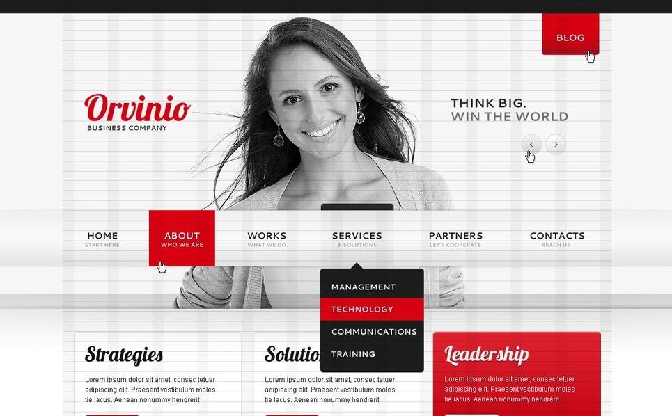 Template Photoshop  para Sites de Business & Services №56257 New Screenshots BIG