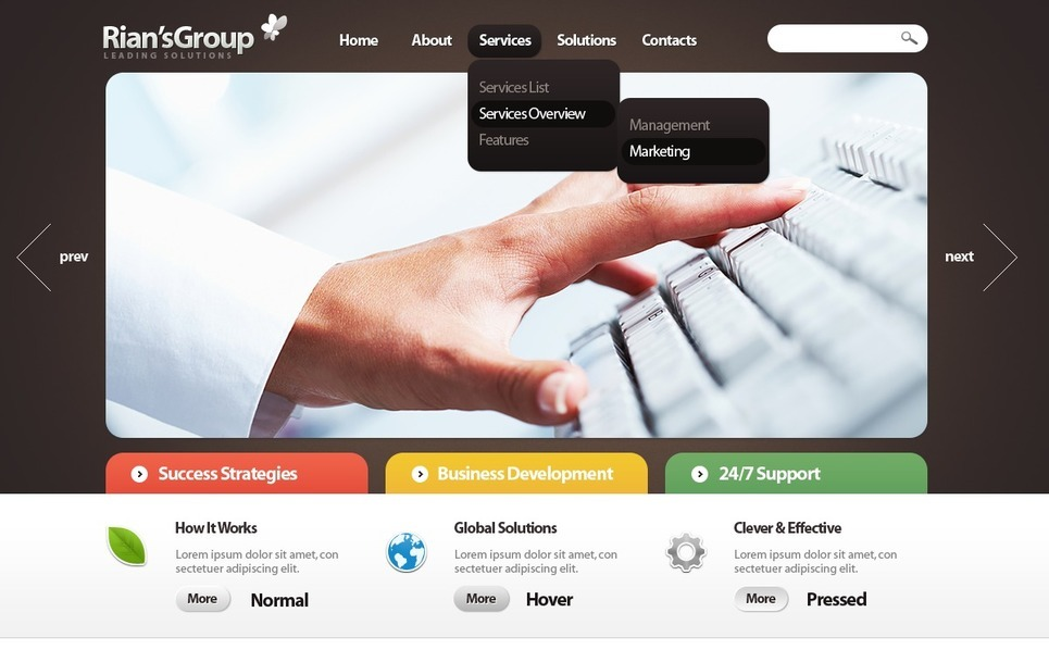 商业与服务PSD模板 New Screenshots BIG