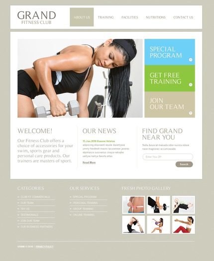 ADOBE Photoshop Template 56263 Home Page Screenshot