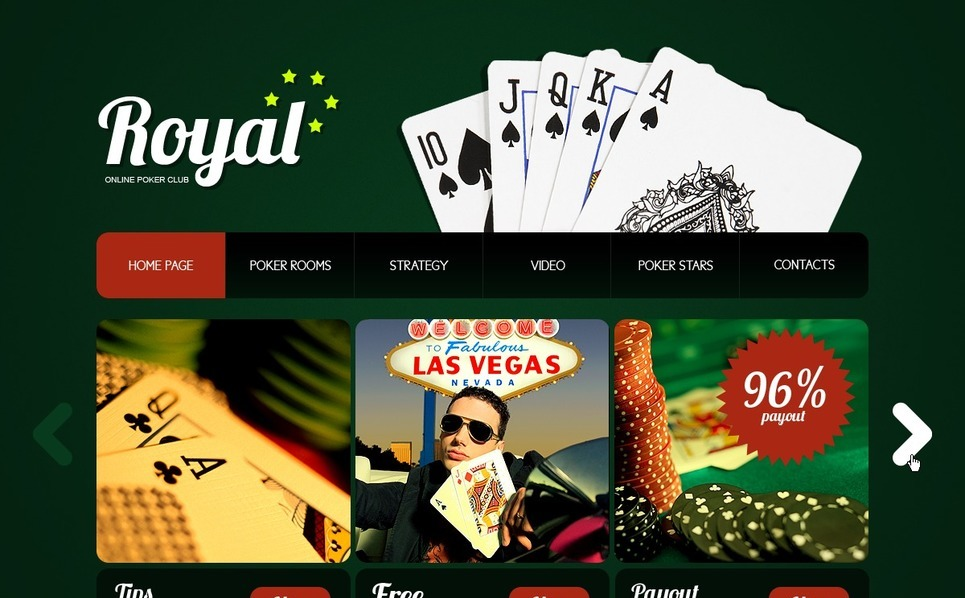PSD šablona Online Poker New Screenshots BIG