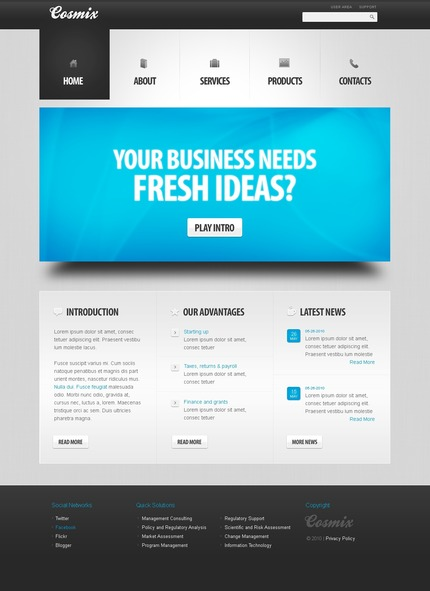 ADOBE Photoshop Template 56267 Home Page Screenshot
