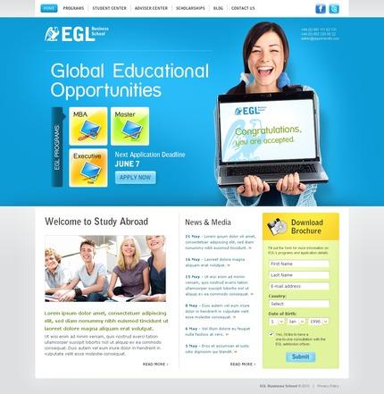 PSD макет сайта №56268