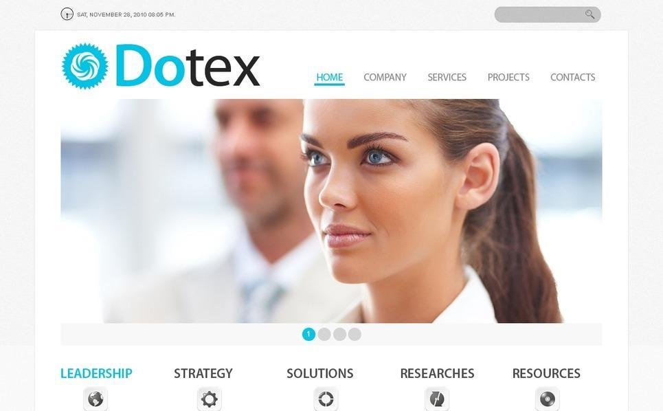 Plantilla PSD #56269 para Sitio de Negocio y Servicios New Screenshots BIG