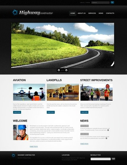 PSD макет сайта №56271