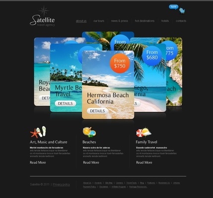 ADOBE Photoshop Template 56280 Home Page Screenshot