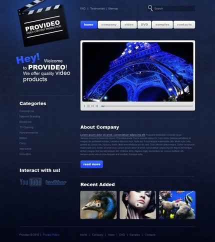 ADOBE Photoshop Template 56281 Home Page Screenshot