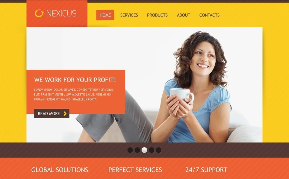 PSD шаблон №56282 на тему Бизнес и услуги New Screenshots BIG