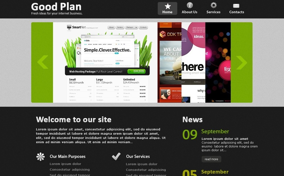 Szablon PSD #56284 na temat: biznes i usługi New Screenshots BIG