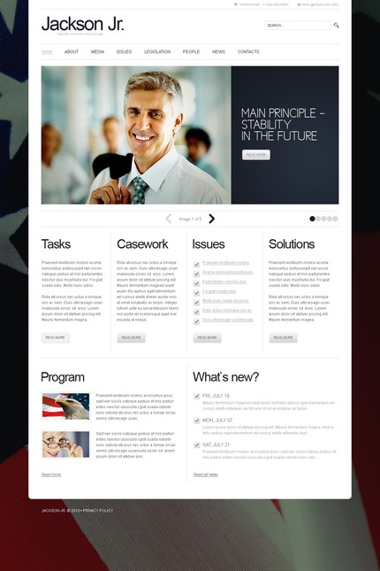 ADOBE Photoshop Template 56287 Home Page Screenshot