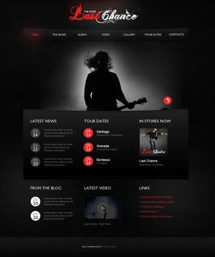 ADOBE Photoshop Template 56295 Home Page Screenshot