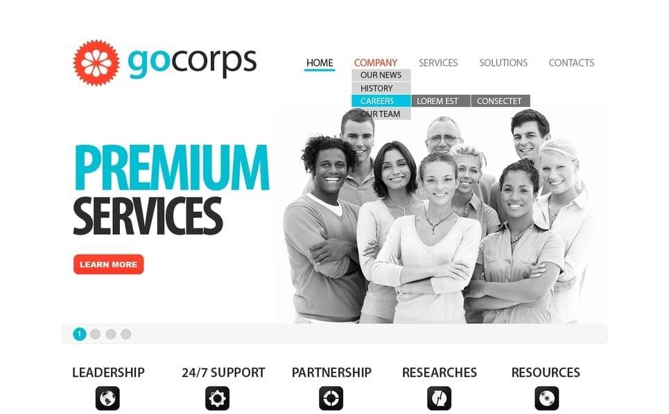 Template PSD  #56296 per Un Sito di Business e Servizi New Screenshots BIG