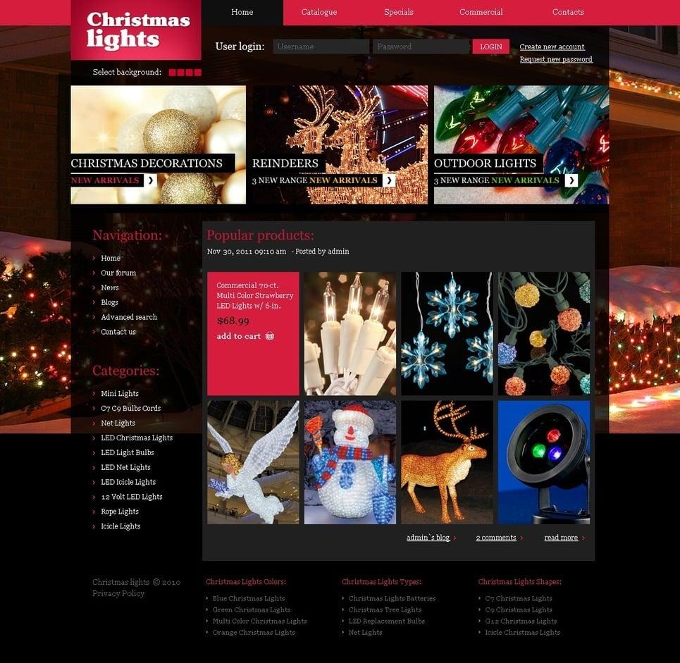 Christmas PSD Template New Screenshots BIG