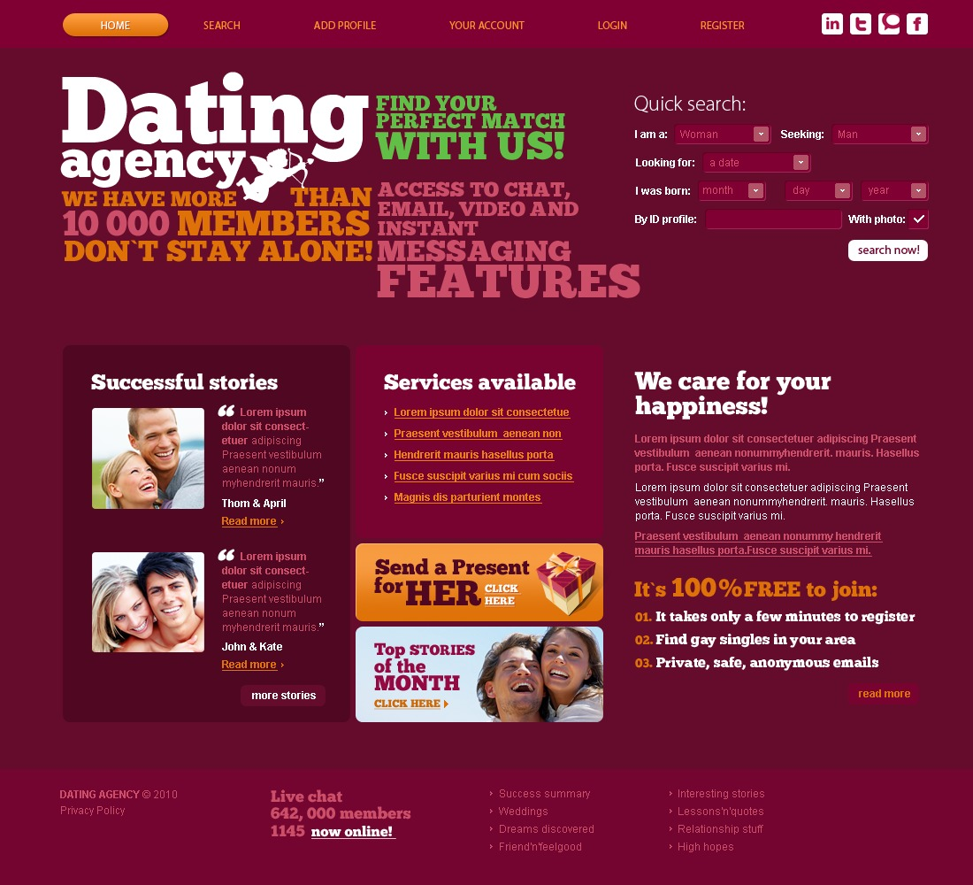 Dating PSD Templates