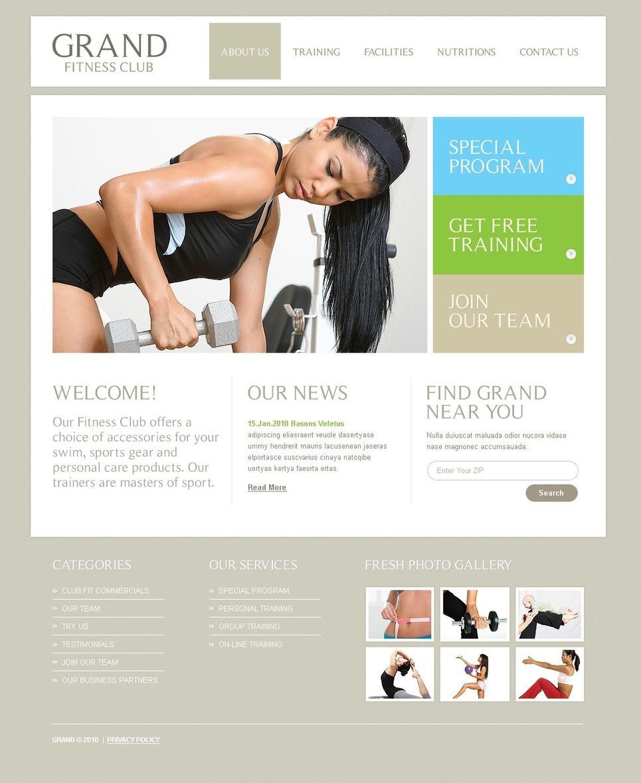 Fitness PSD Template New Screenshots BIG