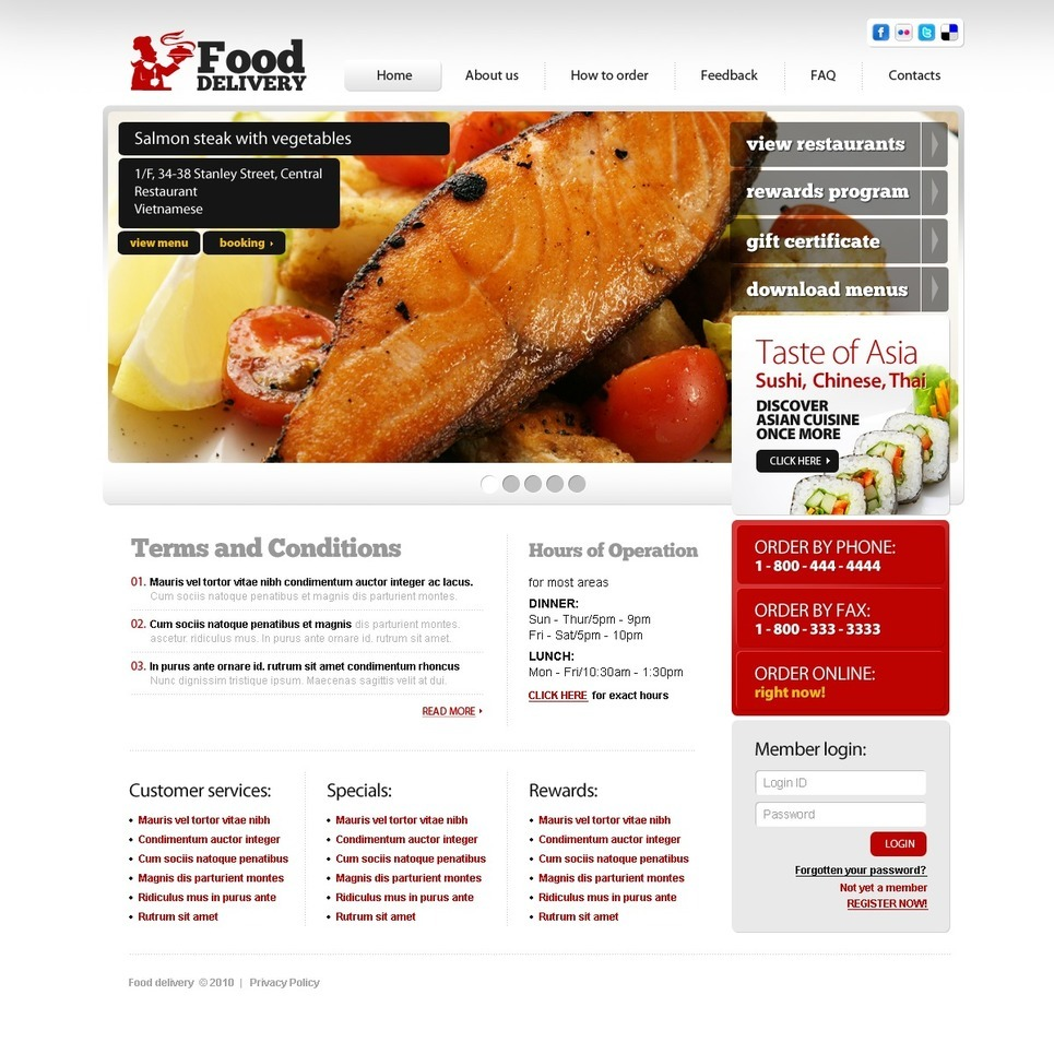 Food Store PSD Template New Screenshots BIG