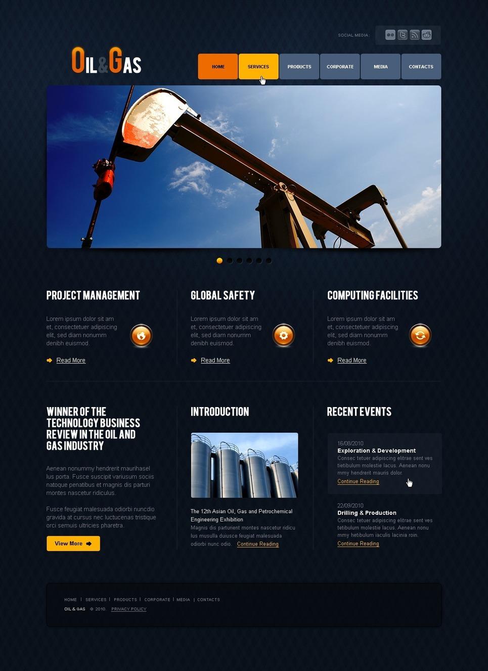 Gas & Oil PSD Template New Screenshots BIG