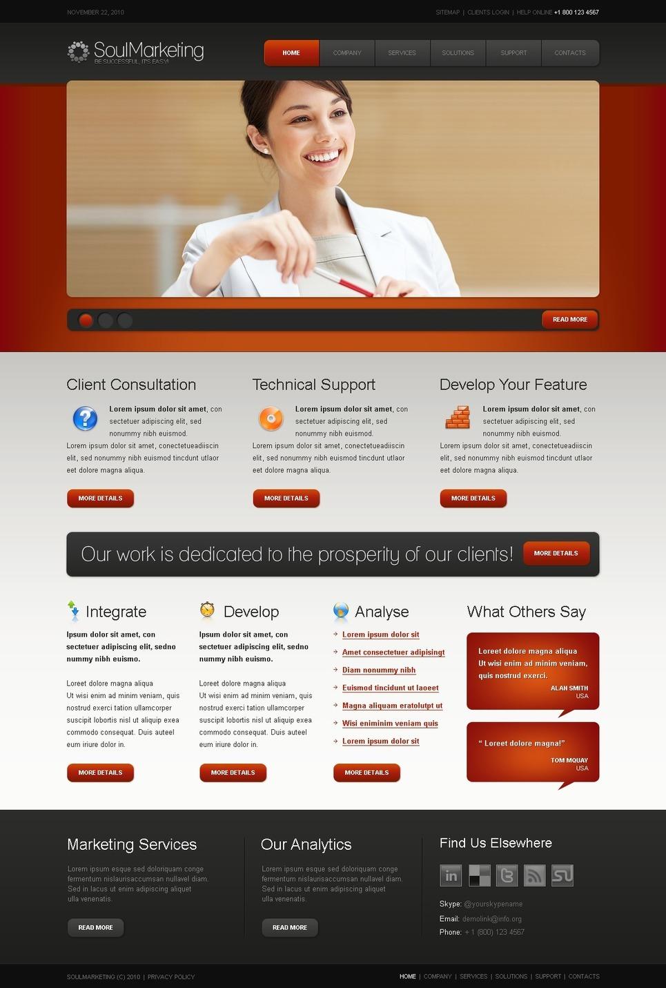 Marketing Agency PSD Template New Screenshots BIG