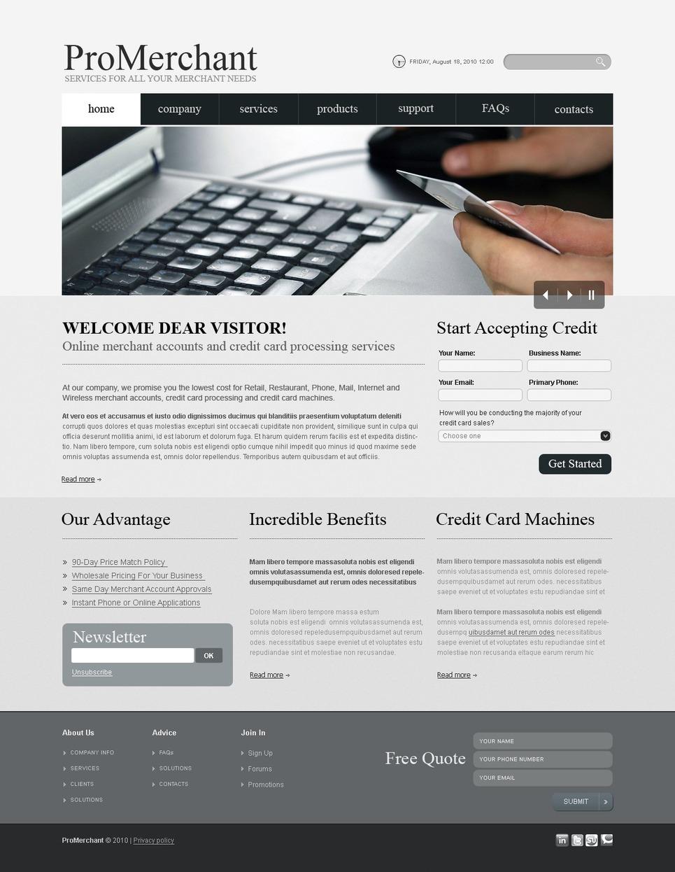 Merchant Services PSD Template New Screenshots BIG