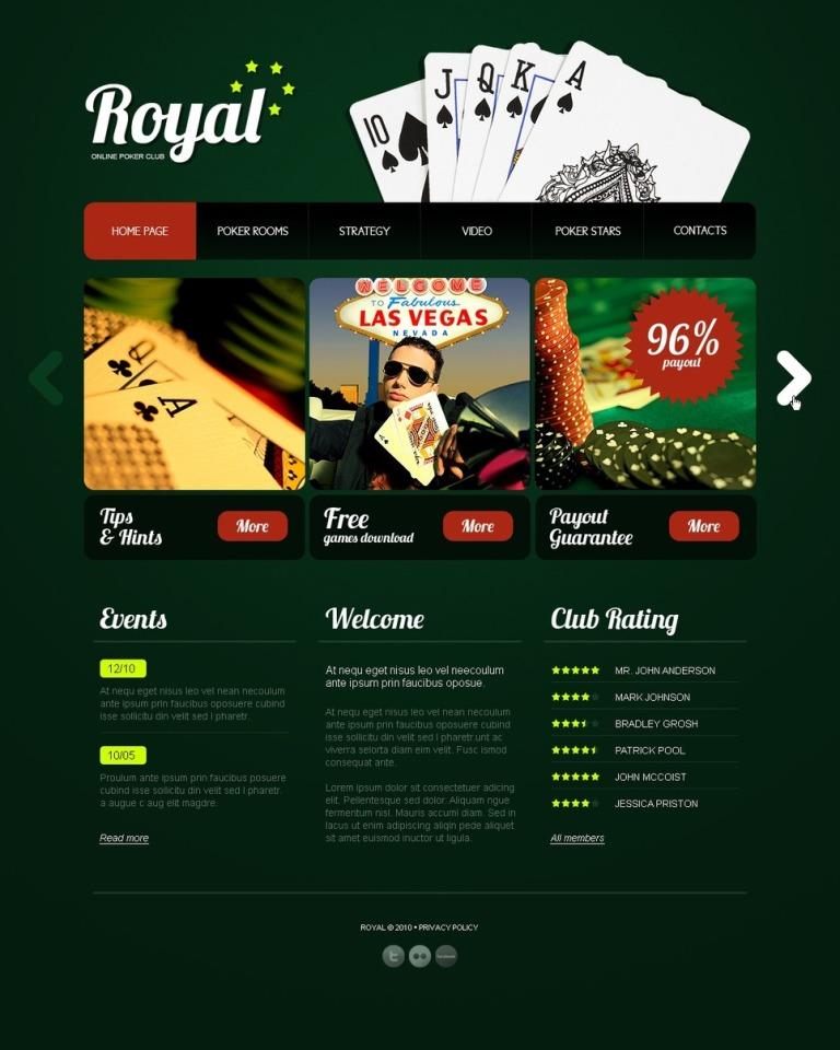 Online Poker PSD Template New Screenshots BIG