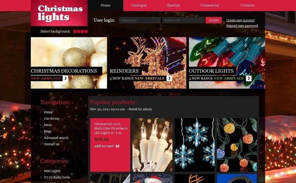 Plantilla PSD #56221 para Sitio de Navidad New Screenshots BIG