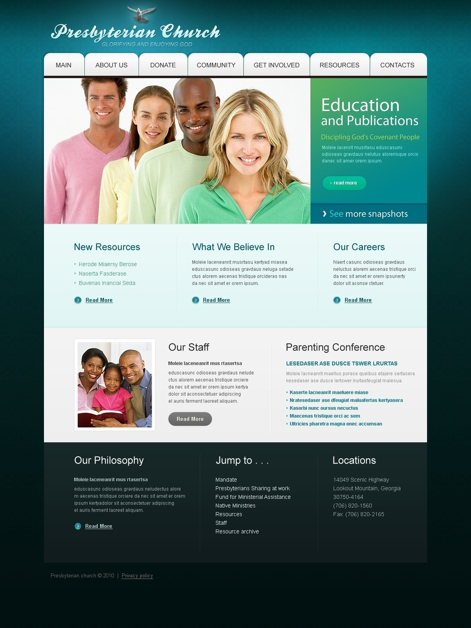 Presbyterian PSD Template New Screenshots BIG