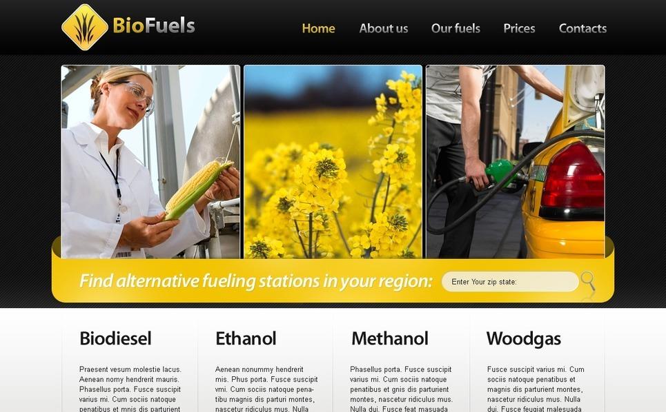 PSD шаблон №56202 на тему биотопливо New Screenshots BIG