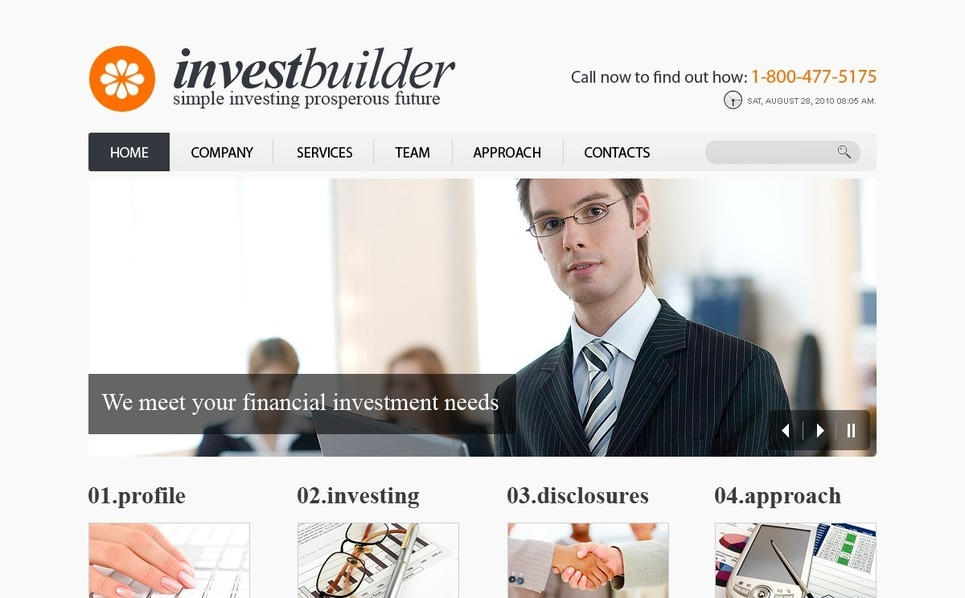 PSD шаблон №56203 на тему инвестиционные компании New Screenshots BIG