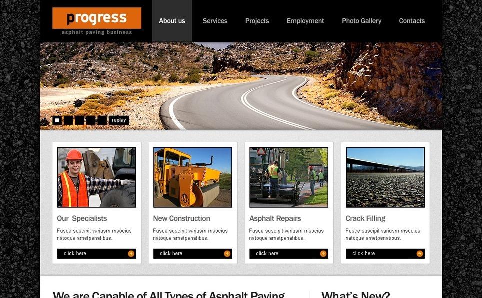 PSD шаблон №56238 на тему промышленность New Screenshots BIG