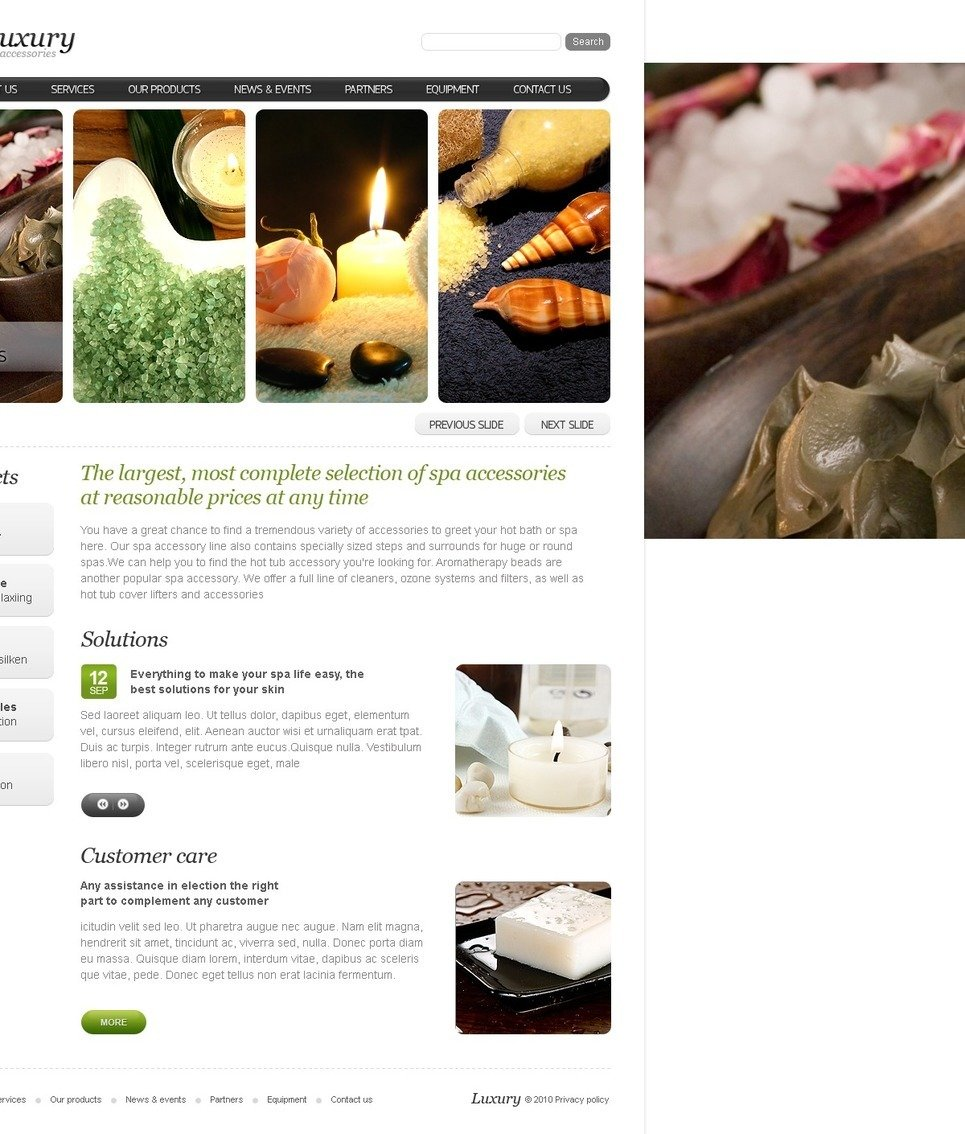 Spa Accessories PSD Template New Screenshots BIG