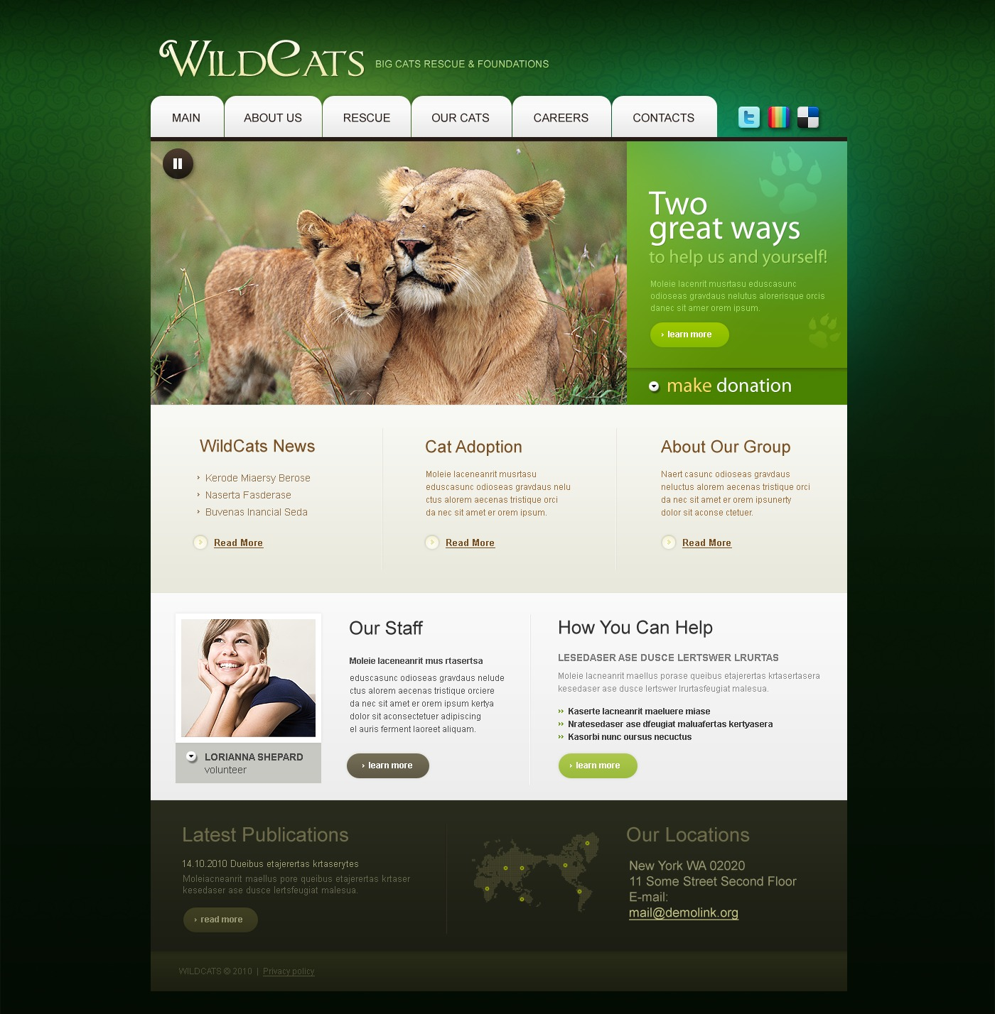 Wild Life PSD Template