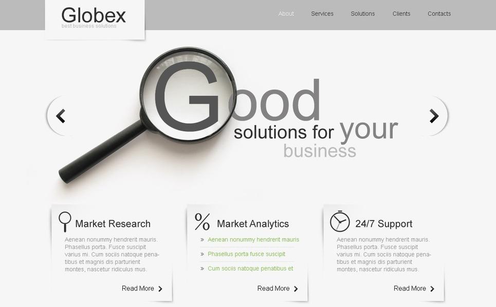 PSD шаблон №56301 на тему Бизнес и услуги New Screenshots BIG