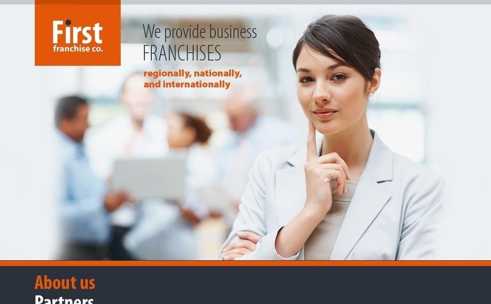 PSD шаблон №56305 на тему Бизнес и услуги New Screenshots BIG