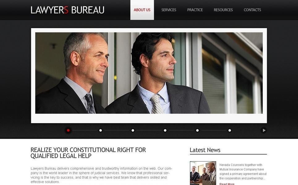 PSD шаблон на тему адвокат New Screenshots BIG