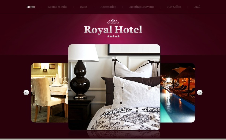 PSD шаблон на тему готелі New Screenshots BIG