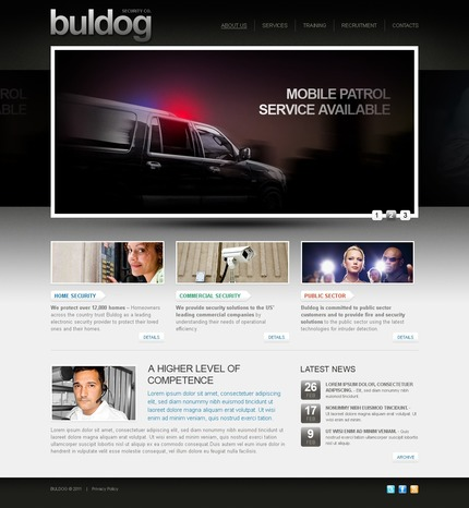 ADOBE Photoshop Template 56323 Home Page Screenshot