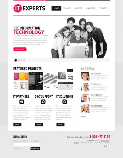 ADOBE Photoshop Template 56325 Home Page Screenshot