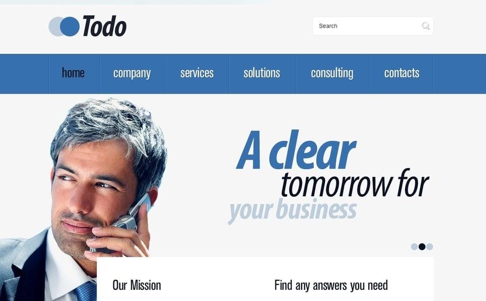 PSD шаблон №56326 на тему Бизнес и услуги New Screenshots BIG