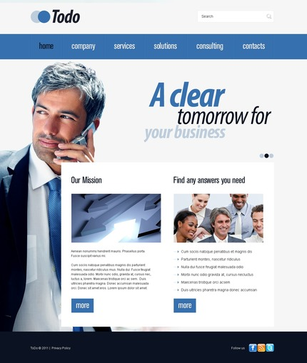 ADOBE Photoshop Template 56326 Home Page Screenshot