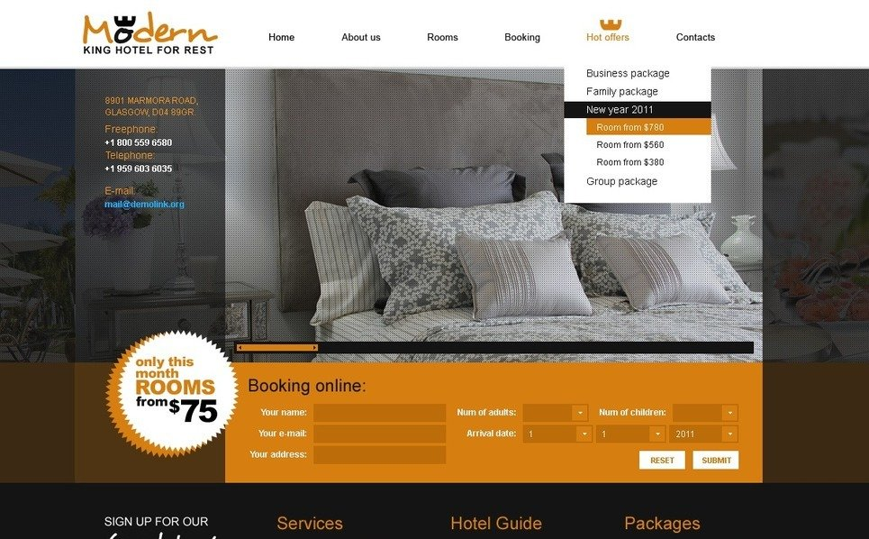 Otel  Psd Şablon New Screenshots BIG