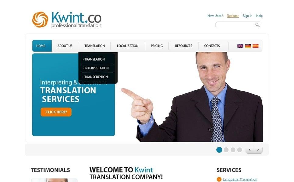 Szablon PSD #56335 na temat: biuro tłumaczeń New Screenshots BIG