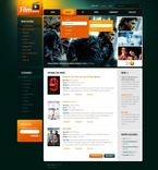 Entertainment PSD  Template 56336