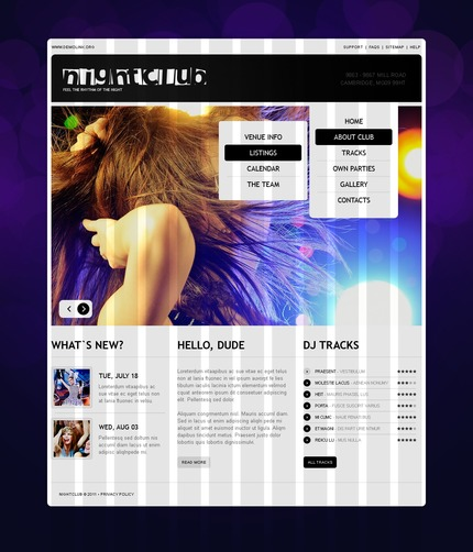 ADOBE Photoshop Template 56340 Home Page Screenshot
