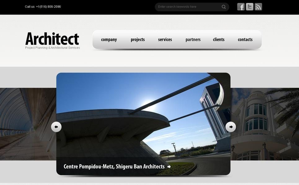 PSD шаблон на тему архітектура New Screenshots BIG