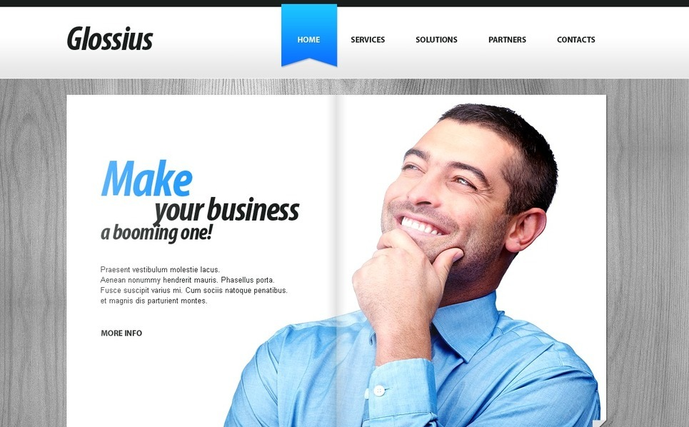 Template Photoshop  para Sites de Business & Services №56349 New Screenshots BIG