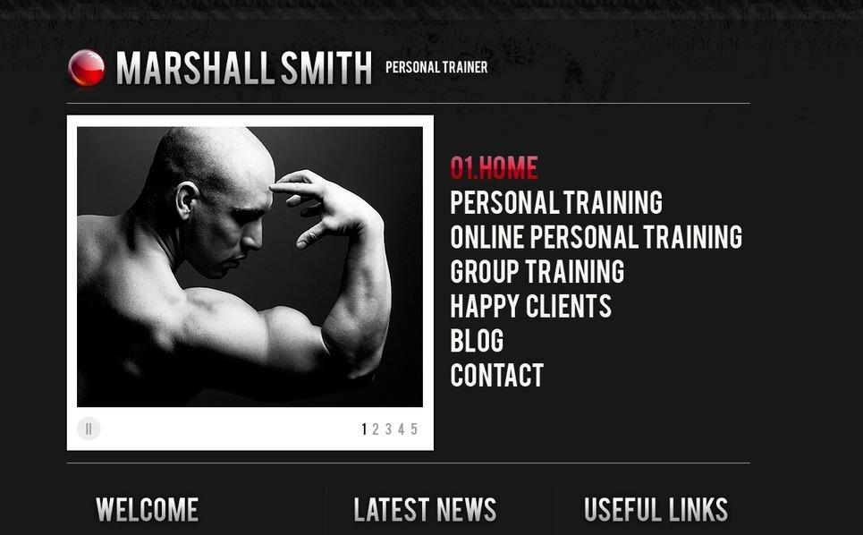 PSD šablona Fitness New Screenshots BIG