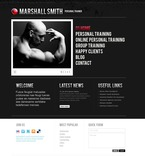 Personal Page PSD  Template 56353